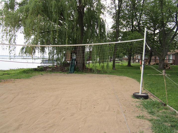 cabin #1 sand volleyball court